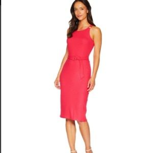 Hot pink Michael Kors midi dress